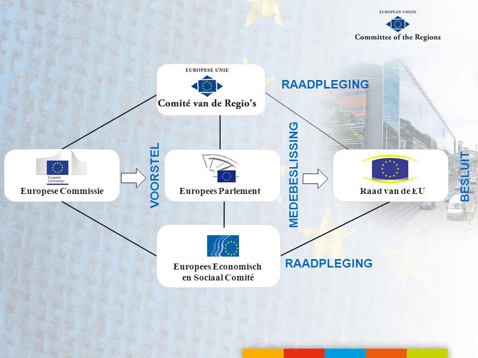 VOORSTEL MEDEBESLISSING RAADPLEGING Europese CommissieEuropees ParlementRaad van de EU BESLUIT Europees Economisch en Sociaal Comité