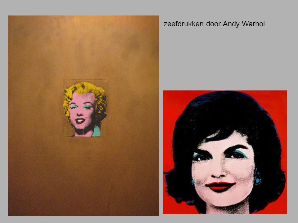 zeefdrukken door Andy Warhol