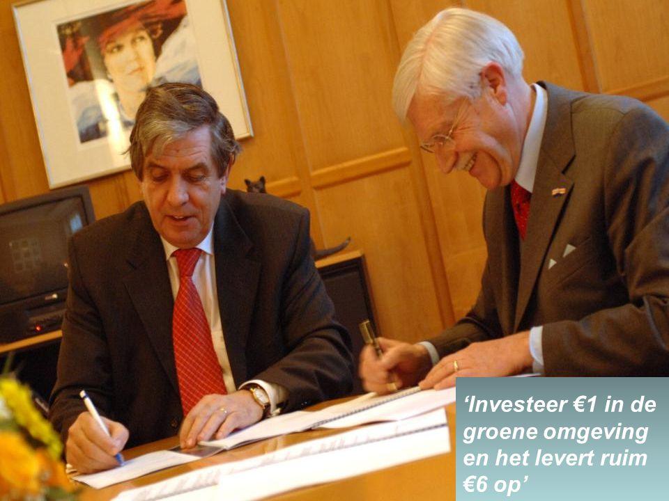 'Investeer €1 in de groene omgeving en het levert ruim €6 op'