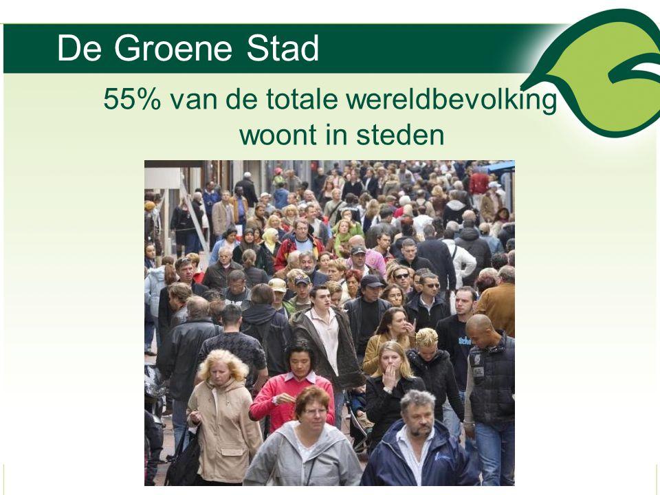 De Groene Stad 55% van de totale wereldbevolking woont in steden