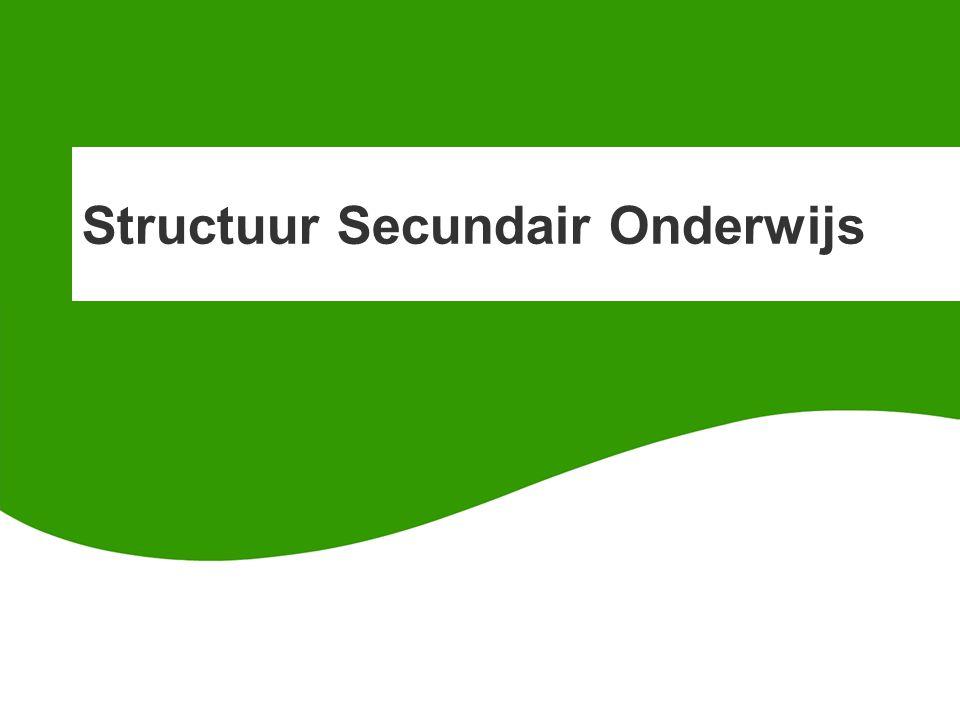Structuur Secundair Onderwijs