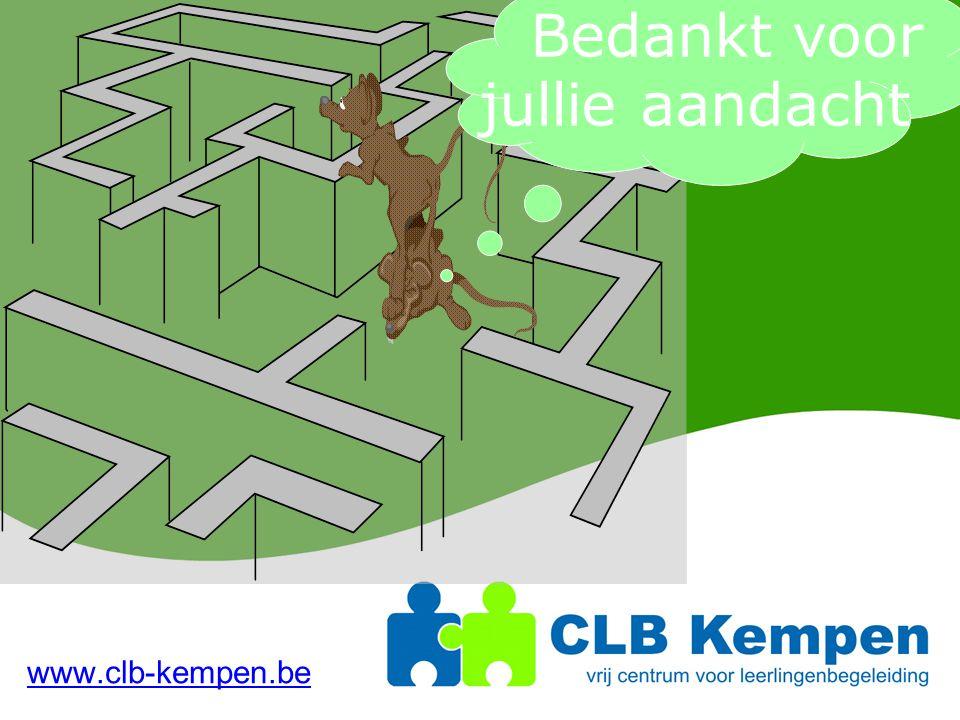 www.clb-kempen.be Bedankt voor jullie aandacht