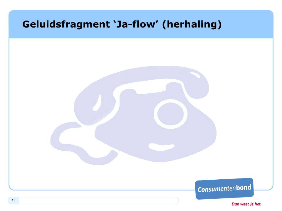 31 Geluidsfragment 'Ja-flow' (herhaling)