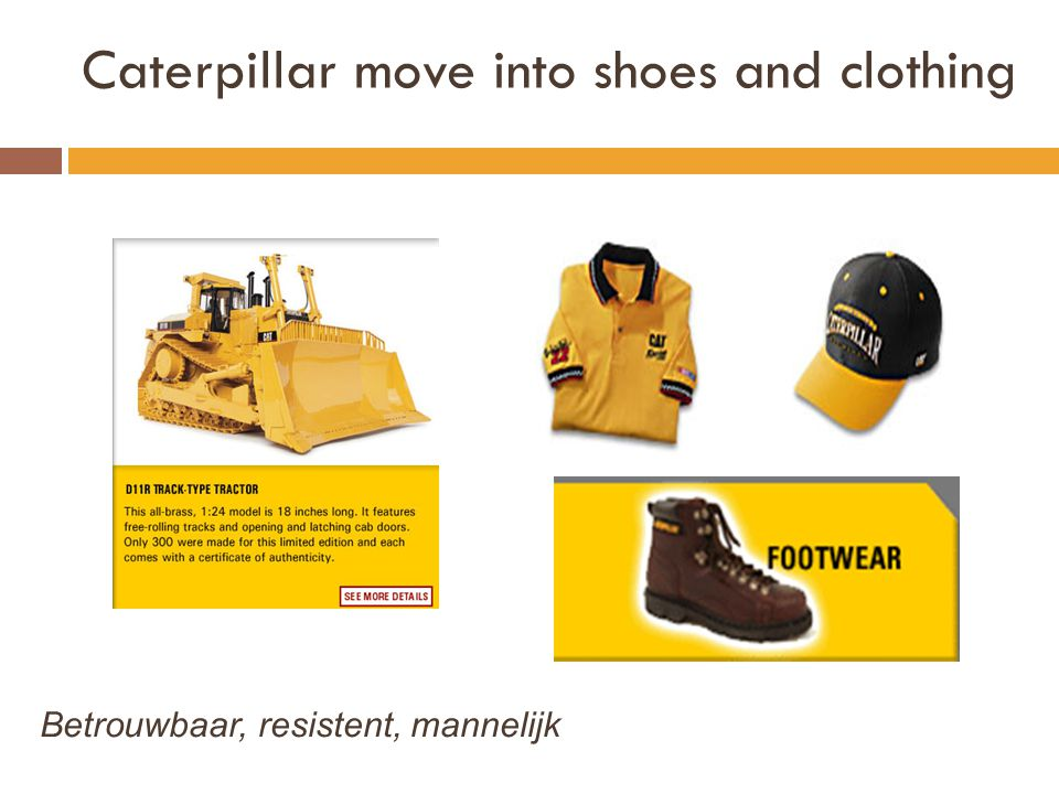 Caterpillar move into shoes and clothing Betrouwbaar, resistent, mannelijk