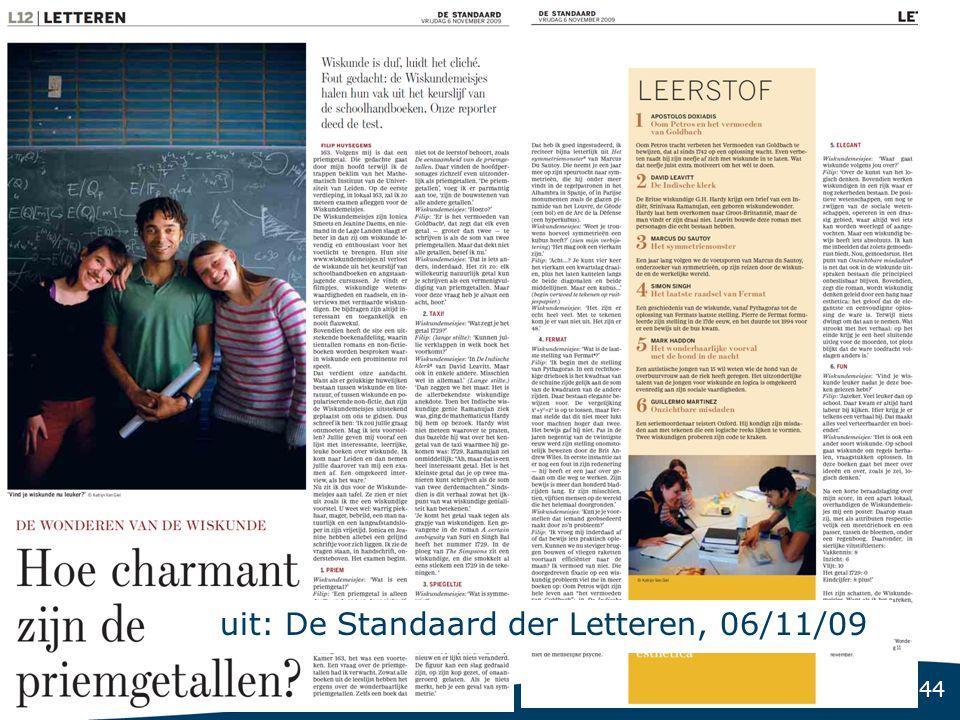 44 uit: De Standaard der Letteren, 06/11/09