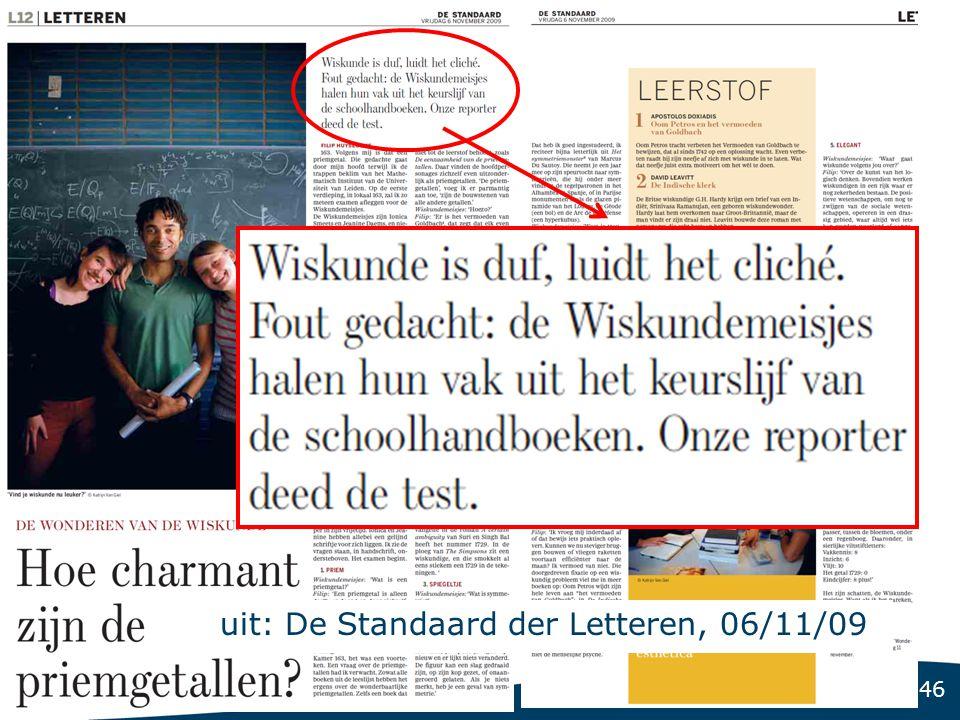 46 uit: De Standaard der Letteren, 06/11/09
