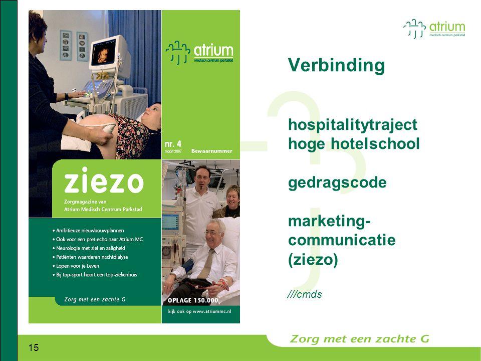 15 Verbinding hospitalitytraject hoge hotelschool gedragscode marketing- communicatie (ziezo) ///cmds
