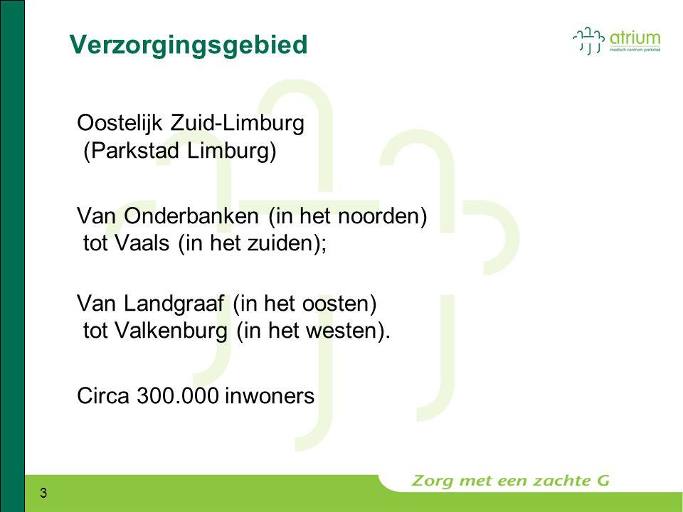 3 Verzorgingsgebied Oostelijk Zuid-Limburg (Parkstad Limburg) Van Onderbanken (in het noorden) tot Vaals (in het zuiden); Van Landgraaf (in het oosten