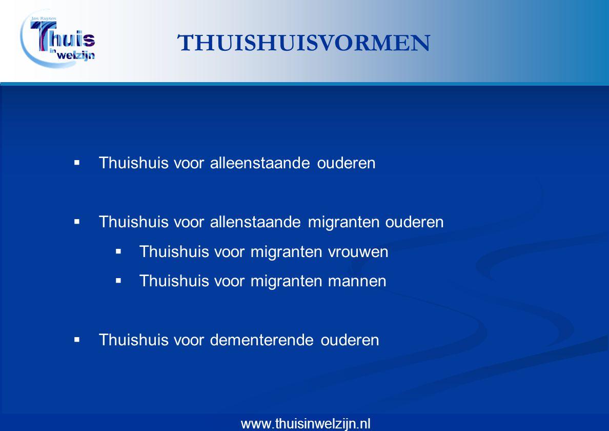 www.thuisinwelzijn.nl  Thuishuis voor alleenstaande ouderen  Thuishuis voor allenstaande migranten ouderen  Thuishuis voor migranten vrouwen  Thui