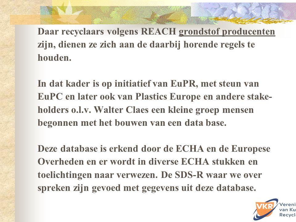 SDS-R zijn te maken bijvoorbeeld met hulp van www.sdsrtool.comwww.sdsrtool.com de database die door EuPR / EuPC op is gesteld in de afgelopen jaren.