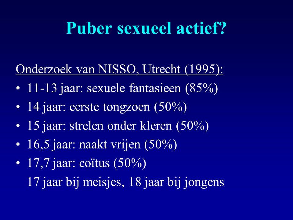 Puber sexueel actief.