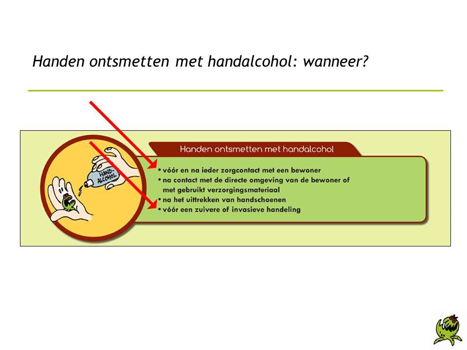 Handen ontsmetten met handalcohol: wanneer?
