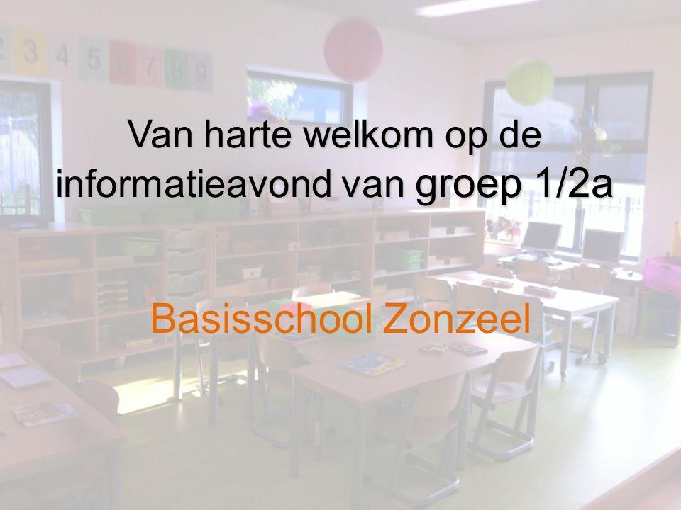 Van harte welkom op de informatieavond van groep 1/2a Basisschool Zonzeel