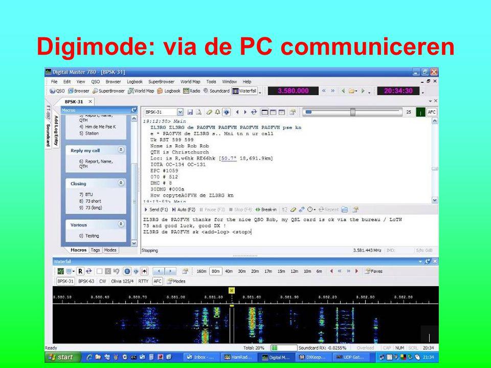 Digimode: via de PC communiceren