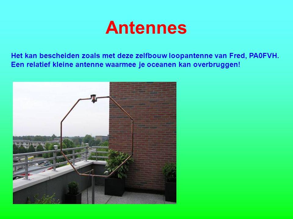 Antennes Het kan bescheiden zoals met deze zelfbouw loopantenne van Fred, PA0FVH.