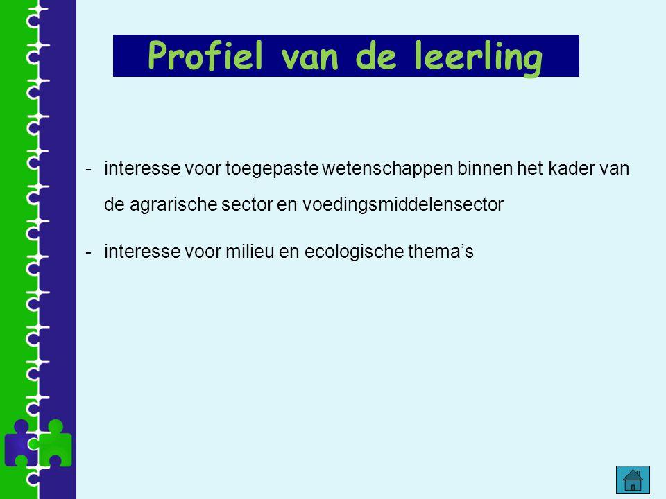-interesse voor toegepaste wetenschappen binnen het kader van de agrarische sector en voedingsmiddelensector -interesse voor milieu en ecologische the