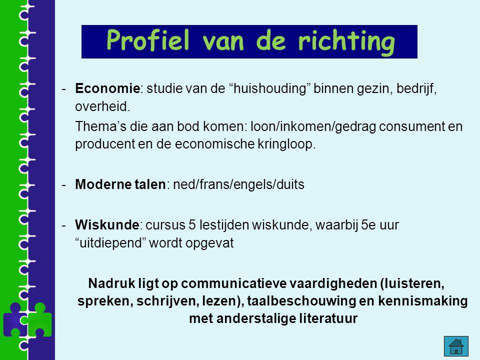 """-Economie: studie van de """"huishouding"""" binnen gezin, bedrijf, overheid. Thema's die aan bod komen: loon/inkomen/gedrag consument en producent en de ec"""
