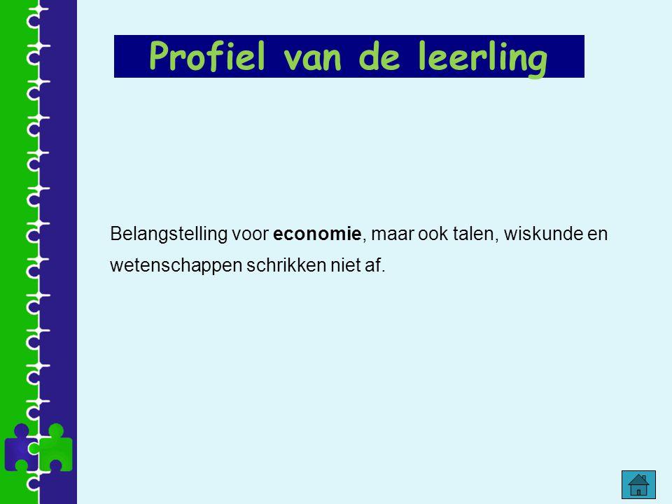 Belangstelling voor economie, maar ook talen, wiskunde en wetenschappen schrikken niet af. Profiel van de leerling