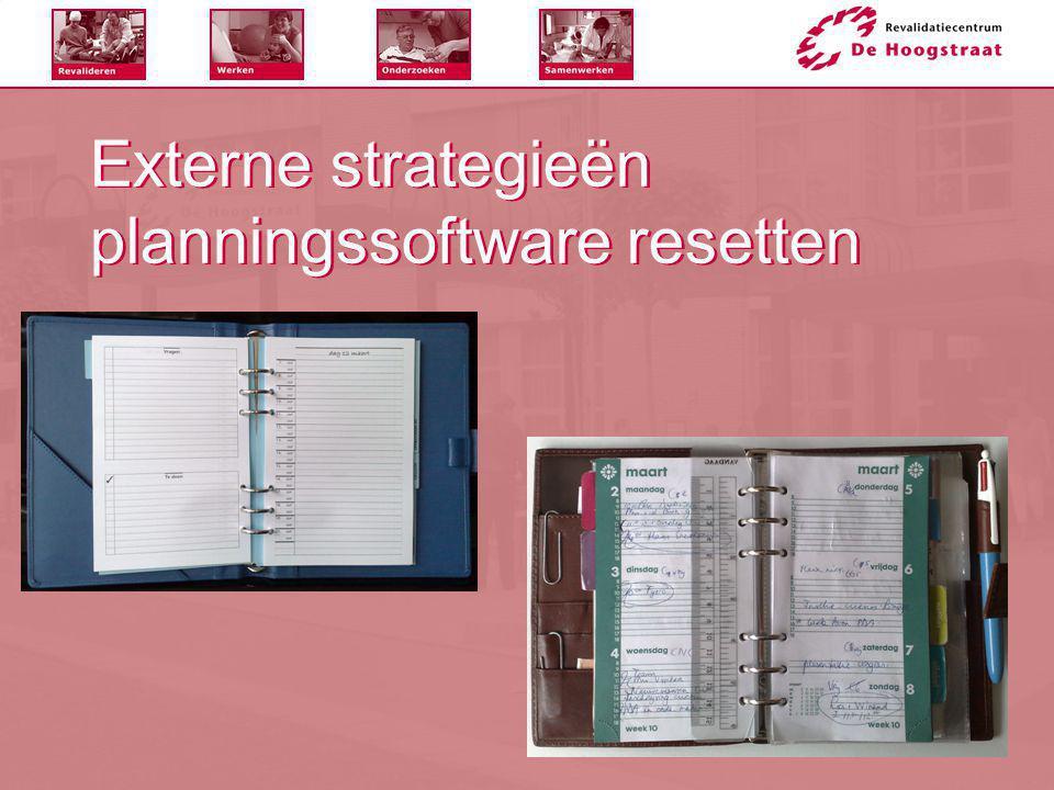 Externe strategieën planningssoftware resetten