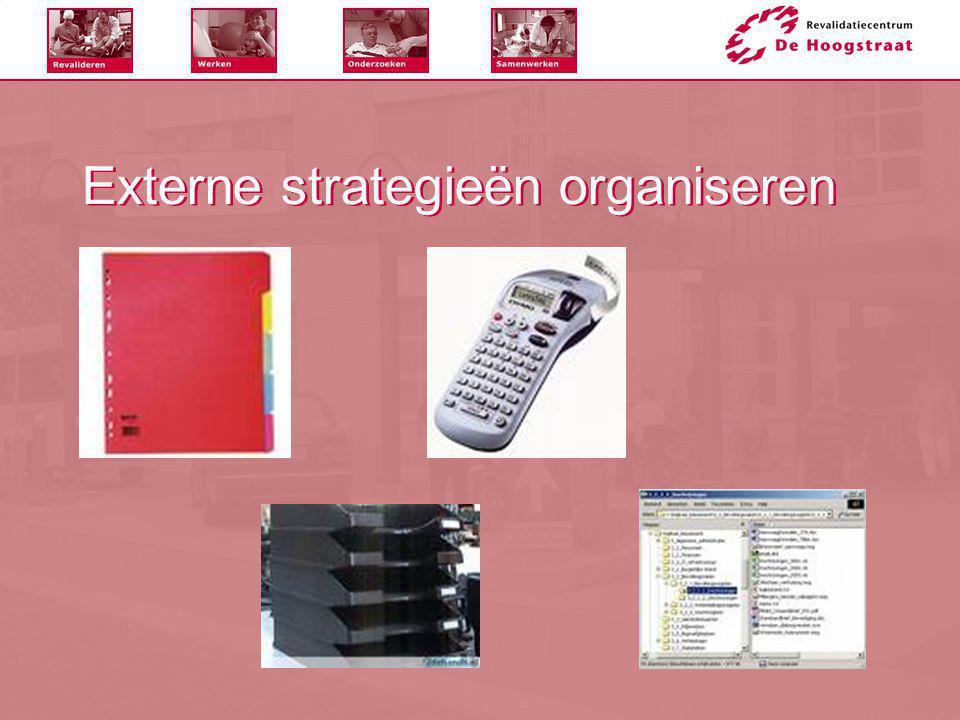 Externe strategieën organiseren