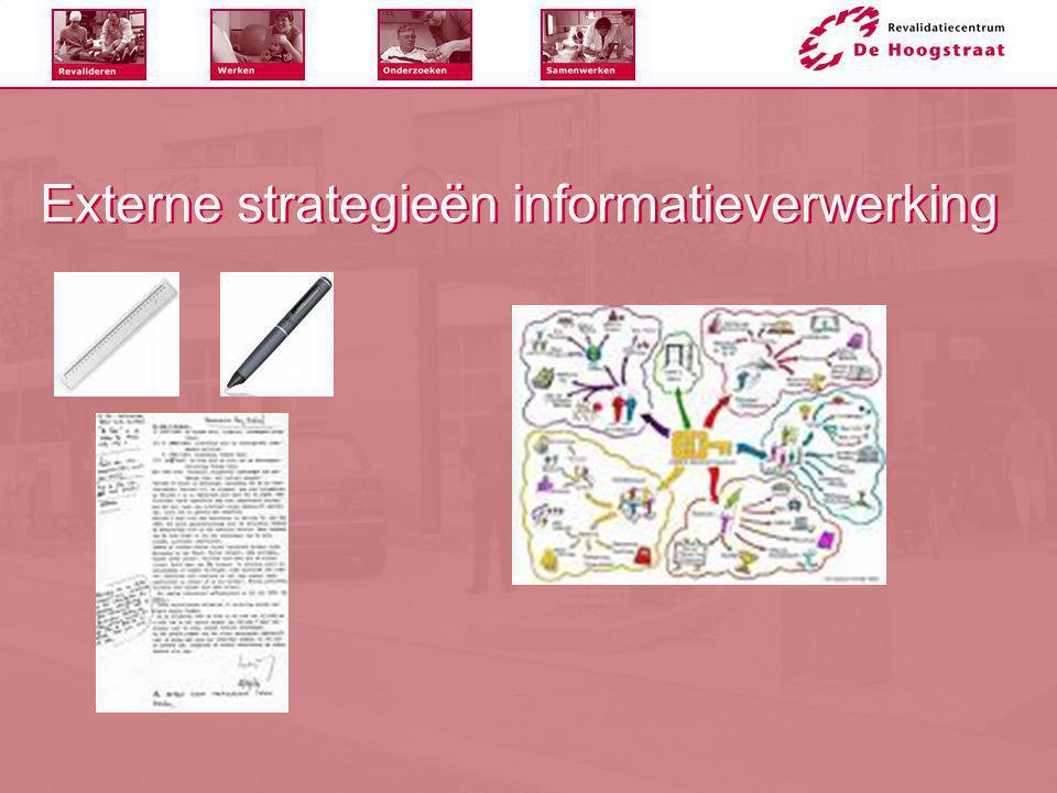 Externe strategieën informatieverwerking
