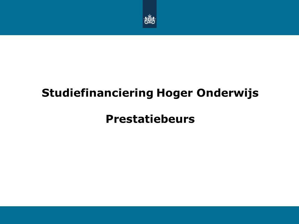 Studiefinanciering Hoger Onderwijs Prestatiebeurs