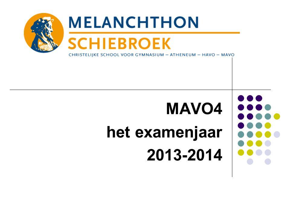 MAVO4 het examenjaar 2013-2014