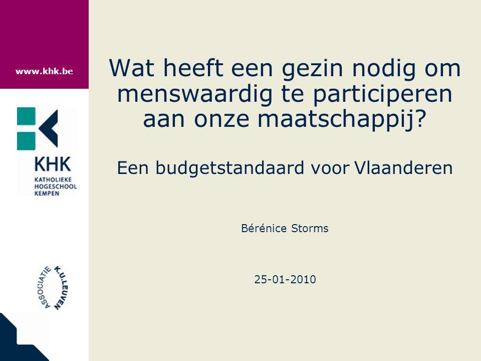 www.khk.be SITUERING EN VERANTWOORDING Inkomensbescherming in België:  Bovenwettelijke en privé-verzekeringen  Sociale verzekeringen  Minimale voorzieningen  Minimumuitkeringen sociale zekerheid  Gewaarborgde minimuminkomens  Individuele bijstand  Recht op maatschappelijke integratie (Leefloonwet)  Recht op maatschappelijke dienstverlening  Geldelijke materiële hulpverlening  Niet-geldelijke materiële hulpverlening  Immateriële hulpverlening