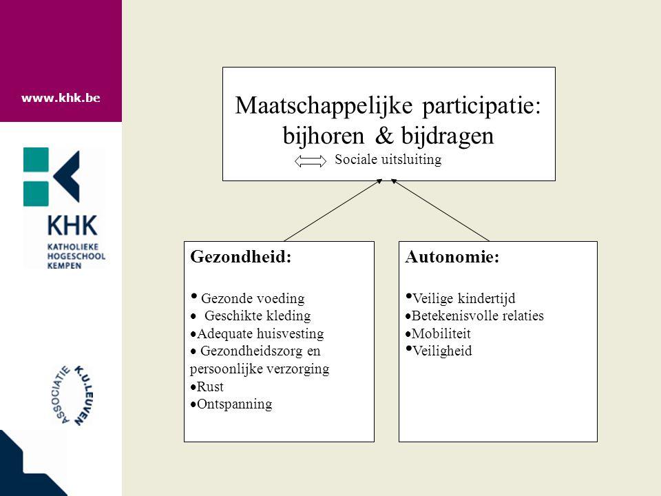 www.khk.be Voor wie meer wil lezen: •Storms, Van den Bosch, 2009, Wat heeft een gezin minimaal nodig.