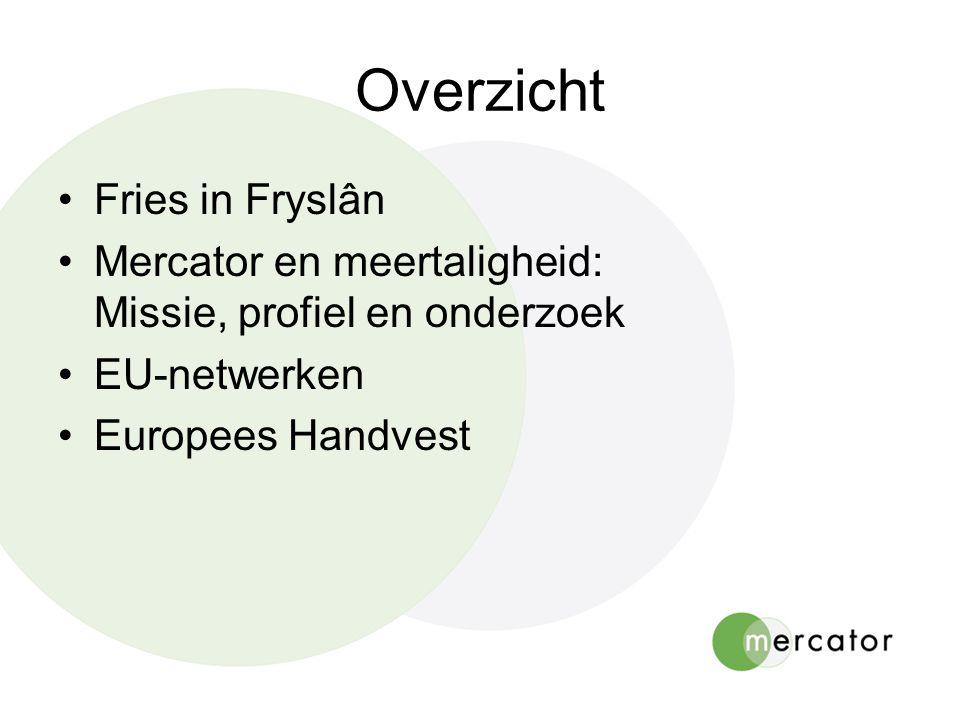Mercator - financiering •1987-2006: Mercator Education Info- en Documentatiecentrum 80% EU-financiering (max.