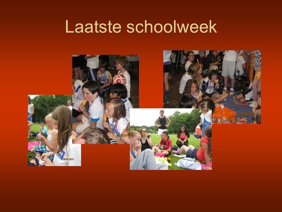 Laatste schoolweek