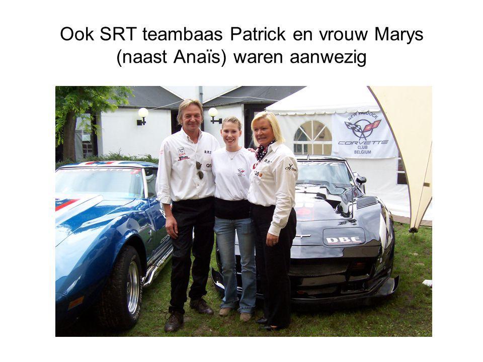 Ook SRT teambaas Patrick en vrouw Marys (naast Anaïs) waren aanwezig