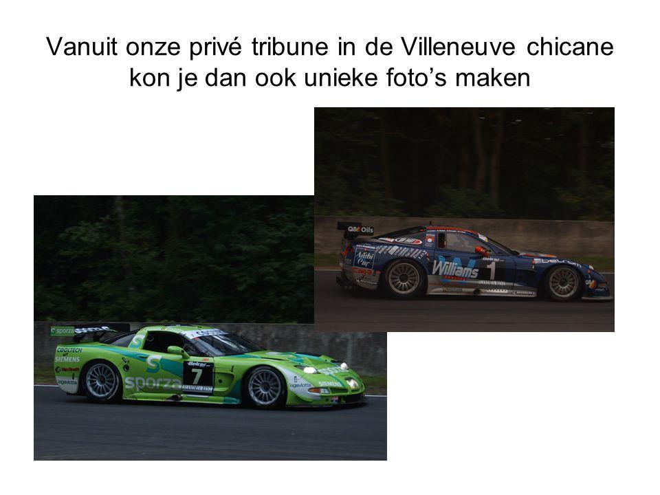 Vanuit onze privé tribune in de Villeneuve chicane kon je dan ook unieke foto's maken