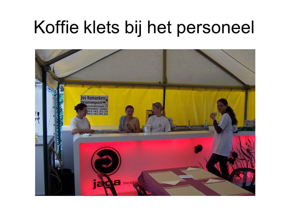 Koffie klets bij het personeel