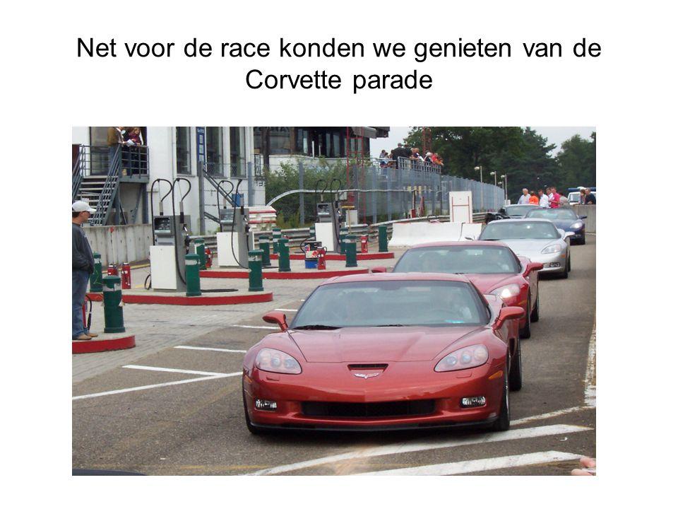 Net voor de race konden we genieten van de Corvette parade