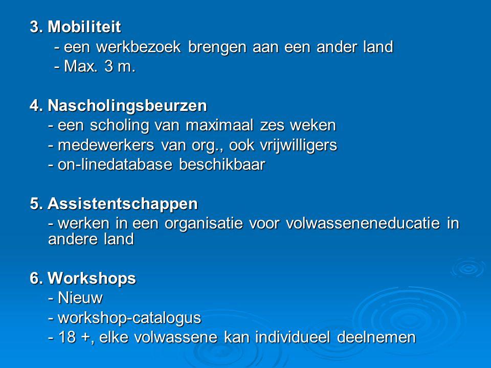 3. Mobiliteit - een werkbezoek brengen aan een ander land - Max.