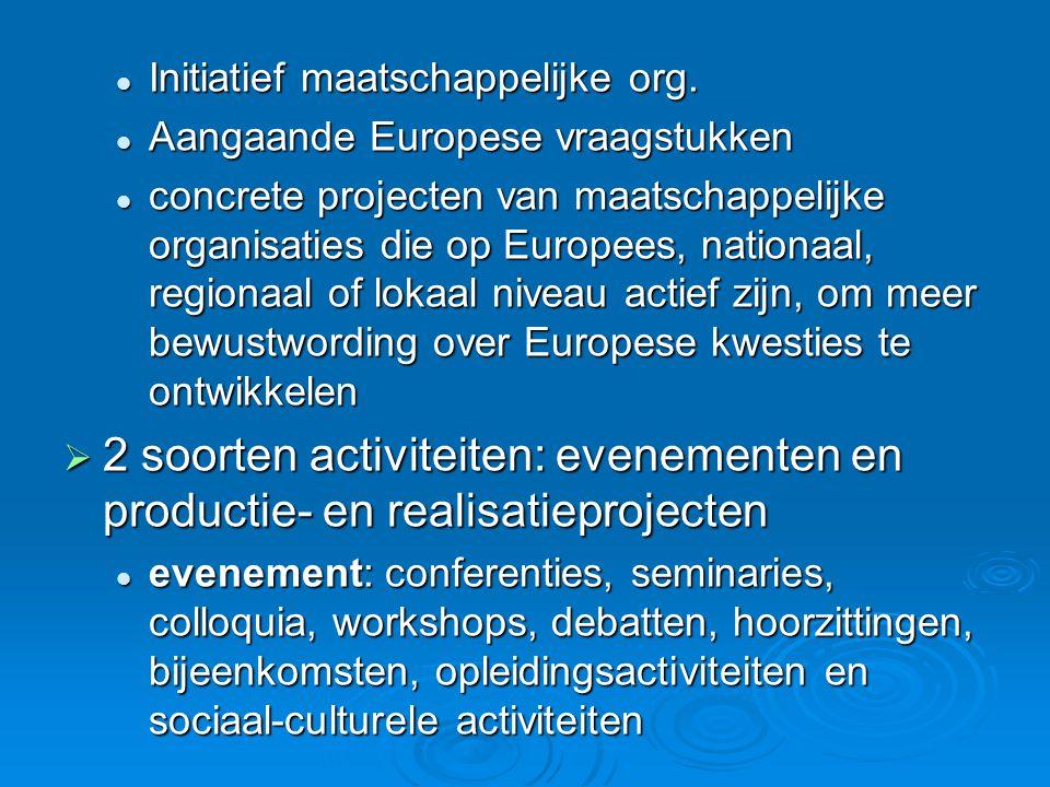  Initiatief maatschappelijke org.