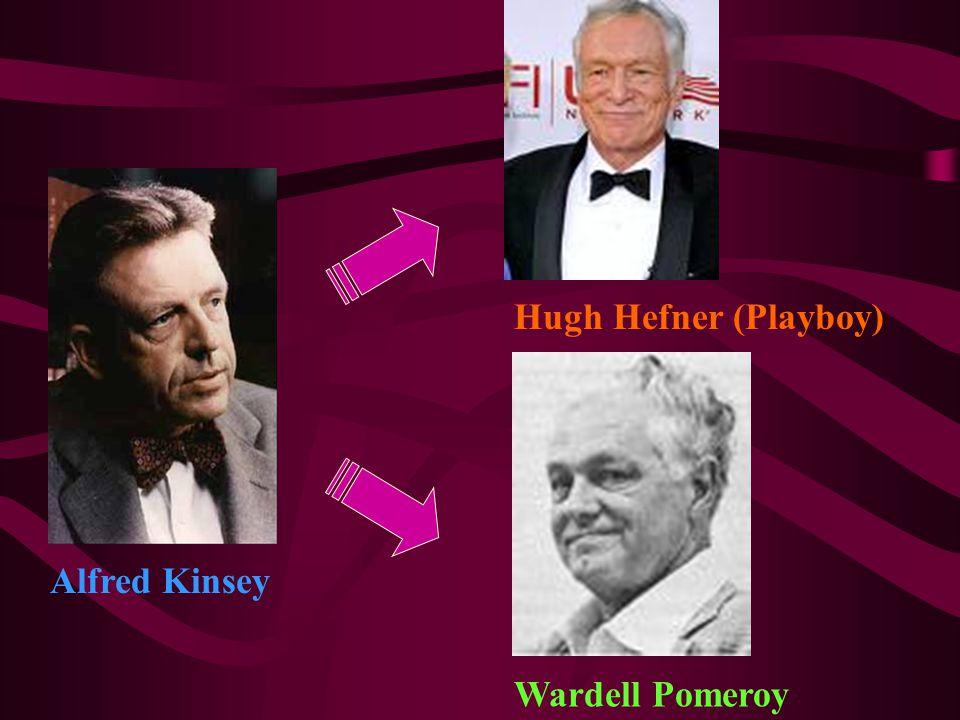 Hugh Hefner (Playboy) Wardell Pomeroy Alfred Kinsey