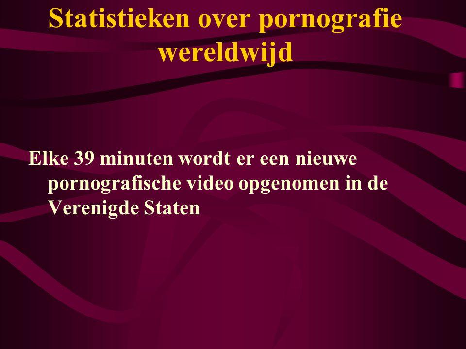 Statistieken over pornografie wereldwijd Elke 39 minuten wordt er een nieuwe pornografische video opgenomen in de Verenigde Staten