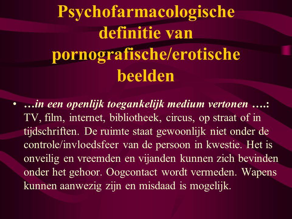 2) Pornografische afbeeldingen veroorzaken de meeste opwinding en zijn het meest intens: 1)Oxitocin (gebonden peptide verbonden met gevoel van liefde) 2) Norepinephrine (Adrenaline) 3) Serotonin similar to LSD 'Cocktail' van meervoudige drugerototoxines: