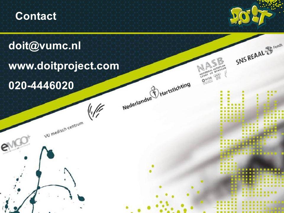 VRAGEN Contact doit@vumc.nl www.doitproject.com 020-4446020