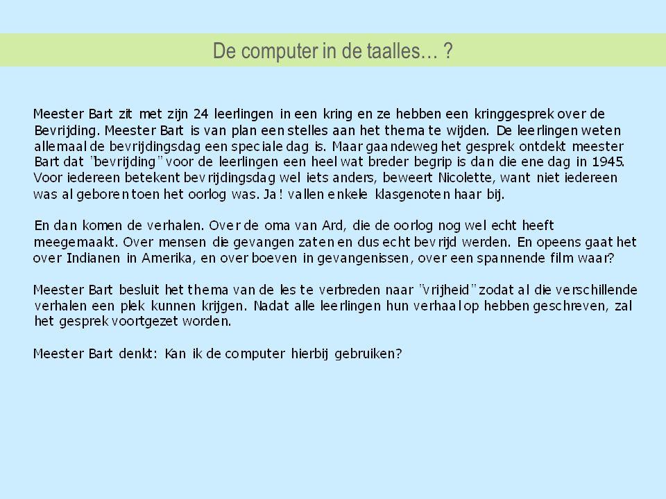 De computer in de taalles…
