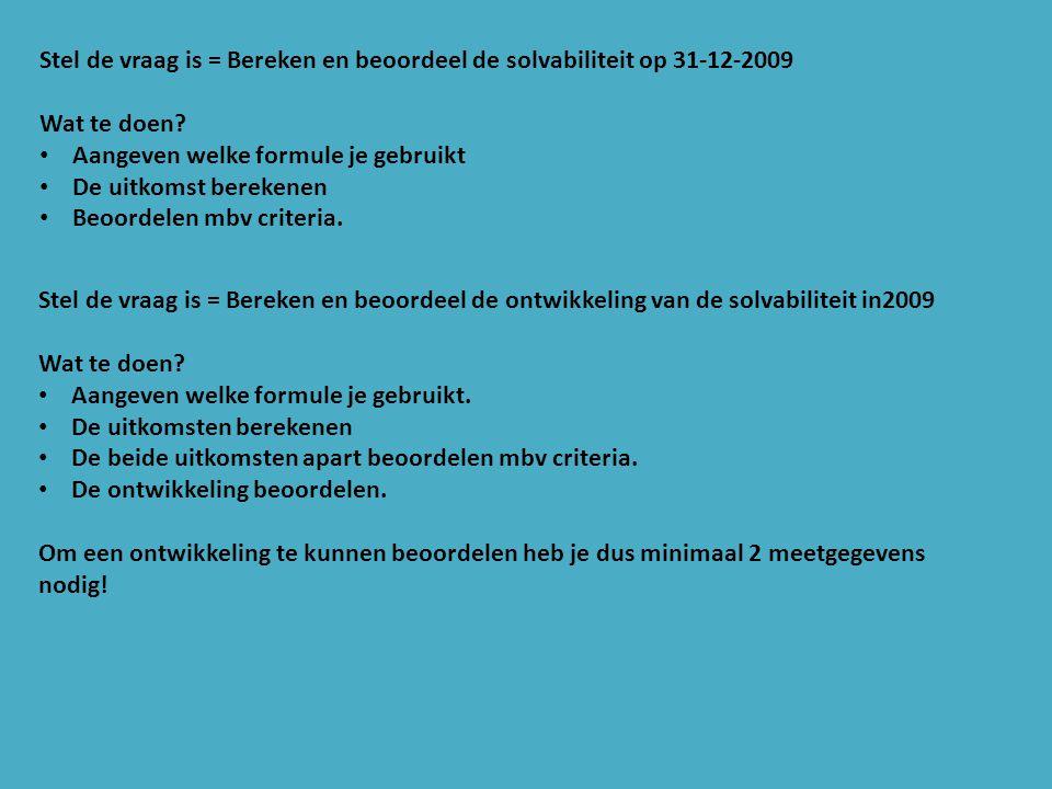 Balans Rotjeknor over 2010.