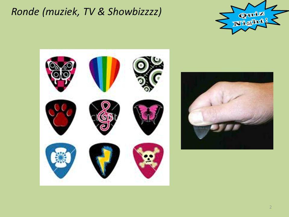 Ronde (muziek, TV & Showbizzzz) 23 A B C D E