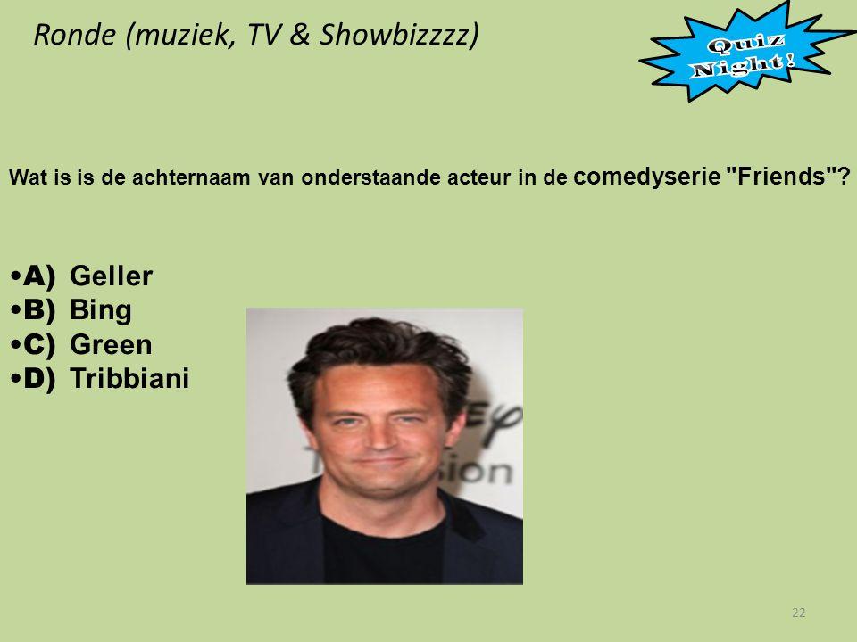 Ronde (muziek, TV & Showbizzzz) 22 Wat is is de achternaam van onderstaande acteur in de comedyserie Friends .