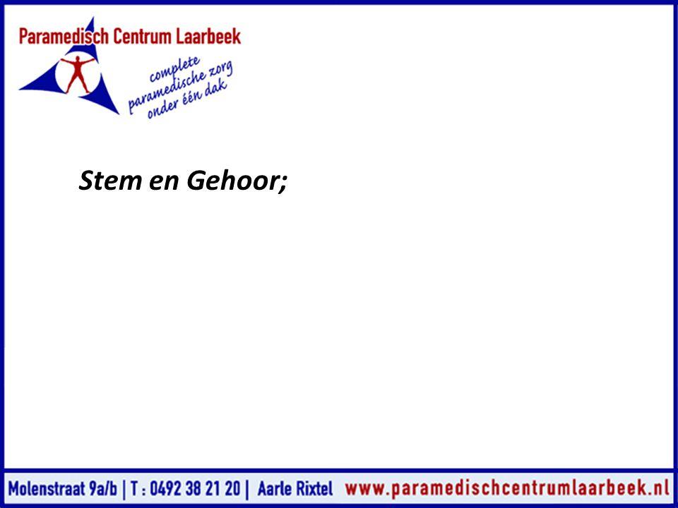 Stem en Gehoor;