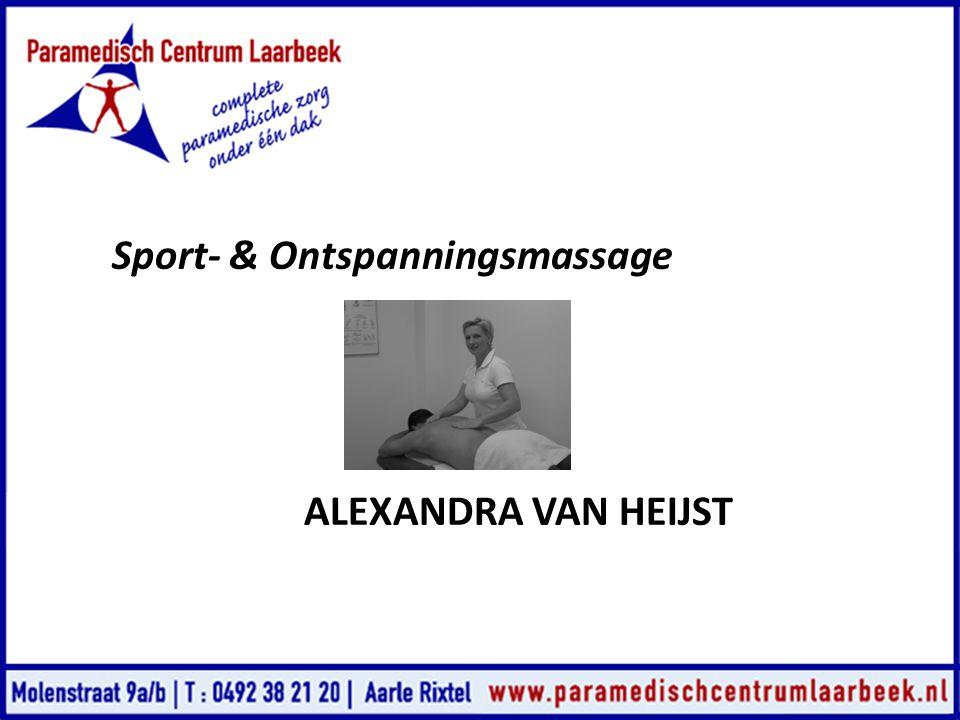 Sport- & Ontspanningsmassage ALEXANDRA VAN HEIJST