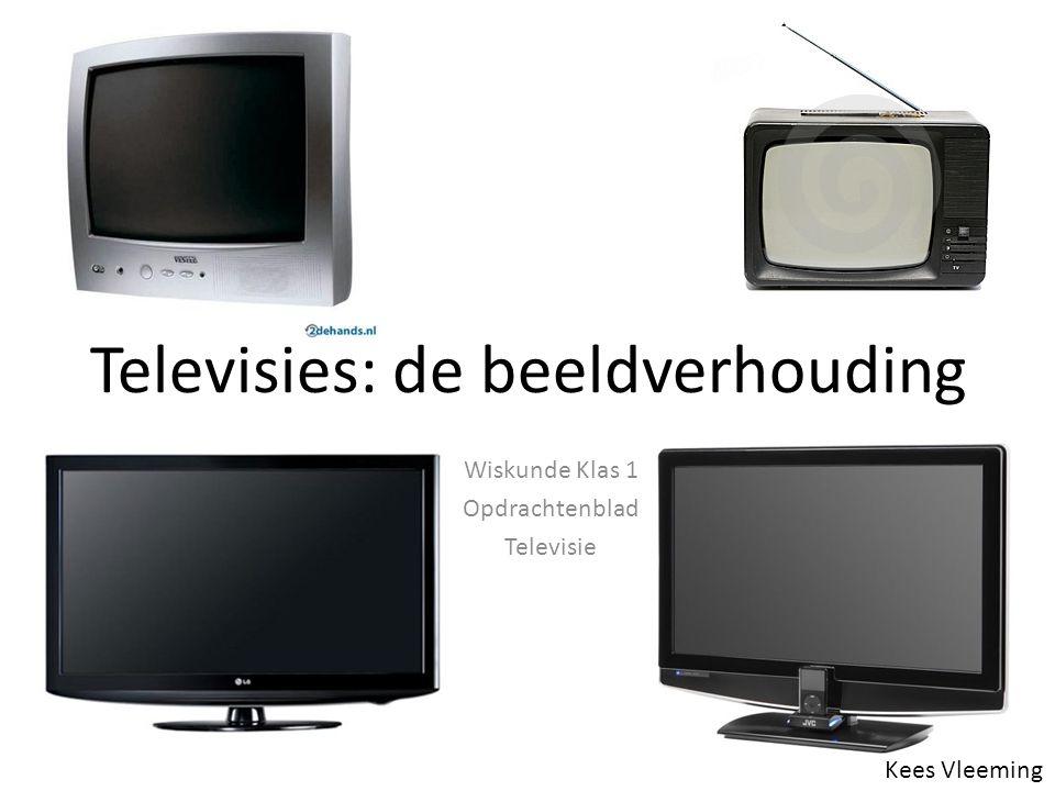 Televisies: de beeldverhouding Kees Vleeming Wiskunde Klas 1 Opdrachtenblad Televisie
