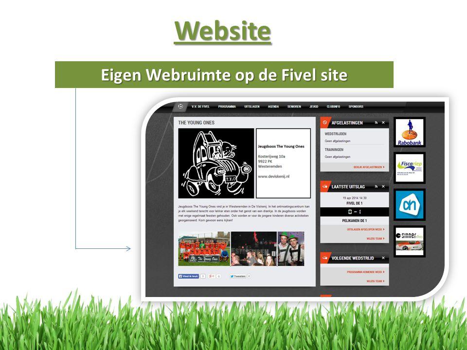 Website Eigen Webruimte op de Fivel site