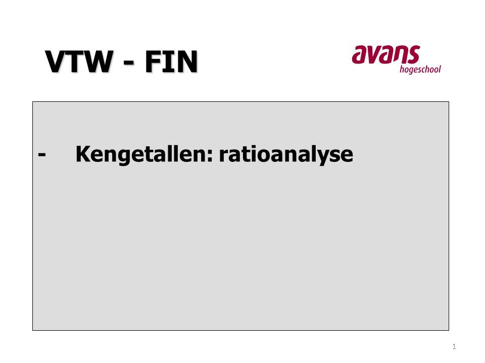 1 -Kengetallen: ratioanalyse VTW - FIN
